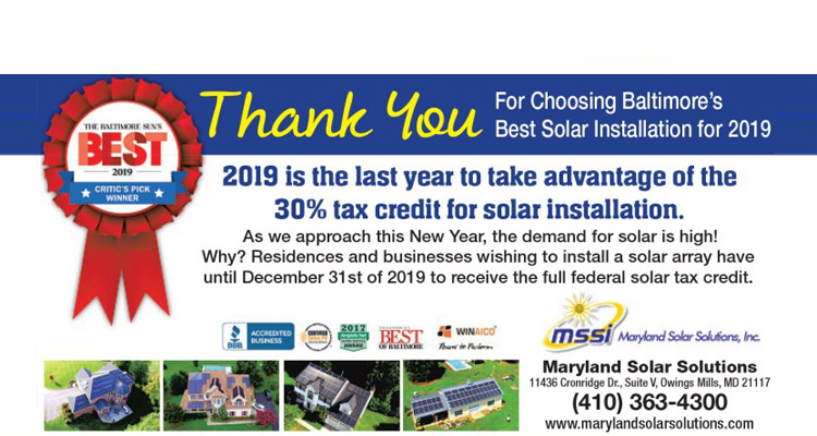 Mssi Maryland Solar Solutions Maryland Solar Services